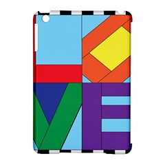 Rainbow Love Apple Ipad Mini Hardshell Case (compatible With Smart Cover) by Mariart