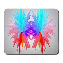 Poly Symmetry Spot Paint Rainbow Large Mousepads by Mariart