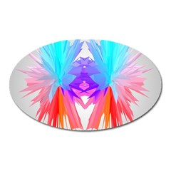 Poly Symmetry Spot Paint Rainbow Oval Magnet by Mariart