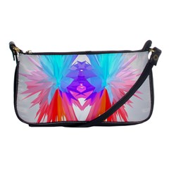 Poly Symmetry Spot Paint Rainbow Shoulder Clutch Bags by Mariart