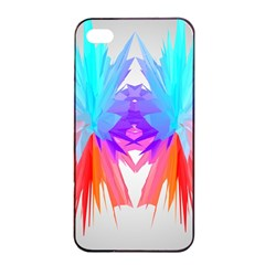 Poly Symmetry Spot Paint Rainbow Apple Iphone 4/4s Seamless Case (black) by Mariart