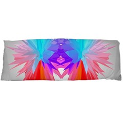 Poly Symmetry Spot Paint Rainbow Body Pillow Case Dakimakura (two Sides) by Mariart