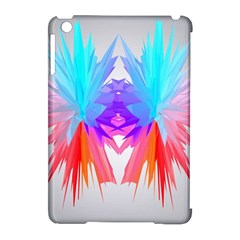 Poly Symmetry Spot Paint Rainbow Apple Ipad Mini Hardshell Case (compatible With Smart Cover) by Mariart