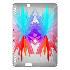 Poly Symmetry Spot Paint Rainbow Kindle Fire Hdx Hardshell Case by Mariart