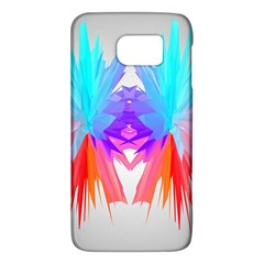 Poly Symmetry Spot Paint Rainbow Galaxy S6 by Mariart