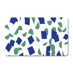 Scatter Geometric Brush Blue Gray Magnet (rectangular) by Mariart