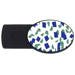 Scatter Geometric Brush Blue Gray Usb Flash Drive Oval (4 Gb) by Mariart