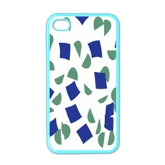Scatter Geometric Brush Blue Gray Apple Iphone 4 Case (color) by Mariart