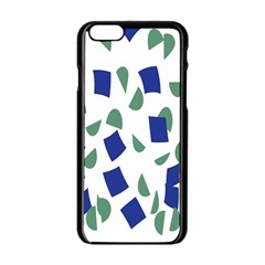 Scatter Geometric Brush Blue Gray Apple Iphone 6/6s Black Enamel Case by Mariart