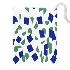 Scatter Geometric Brush Blue Gray Drawstring Pouches (xxl) by Mariart