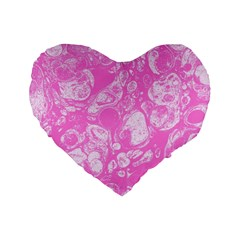 Colors Standard 16  Premium Flano Heart Shape Cushions by Valentinaart