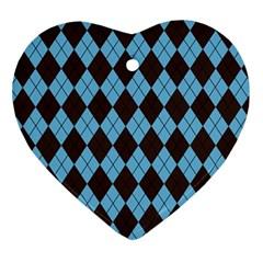 Plaid Pattern Ornament (heart) by Valentinaart