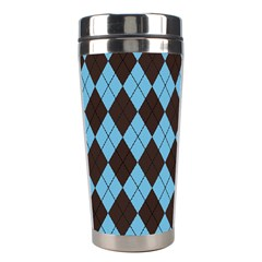 Plaid Pattern Stainless Steel Travel Tumblers by Valentinaart