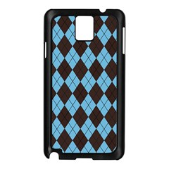 Plaid Pattern Samsung Galaxy Note 3 N9005 Case (black) by Valentinaart