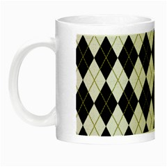 Plaid Pattern Night Luminous Mugs by Valentinaart