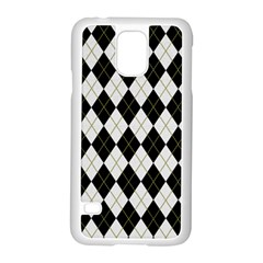 Plaid Pattern Samsung Galaxy S5 Case (white) by Valentinaart
