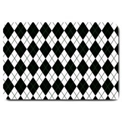 Plaid Pattern Large Doormat  by Valentinaart
