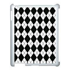 Plaid Pattern Apple Ipad 3/4 Case (white) by Valentinaart