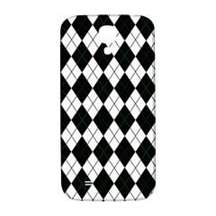 Plaid Pattern Samsung Galaxy S4 I9500/i9505  Hardshell Back Case by Valentinaart