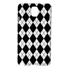 Plaid Pattern Samsung Galaxy Note 3 N9005 Hardshell Case by Valentinaart