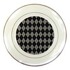 Plaid Pattern Porcelain Plates by Valentinaart
