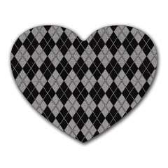 Plaid Pattern Heart Mousepads by Valentinaart