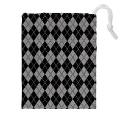 Plaid Pattern Drawstring Pouches (xxl) by Valentinaart