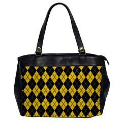 Plaid Pattern Office Handbags by Valentinaart