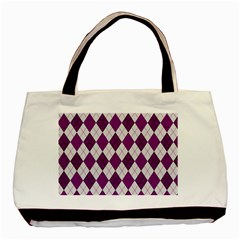 Plaid Pattern Basic Tote Bag (two Sides) by Valentinaart