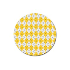 Plaid Pattern Magnet 3  (round) by Valentinaart