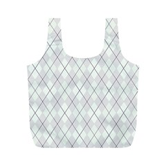 Plaid Pattern Full Print Recycle Bags (m)  by Valentinaart