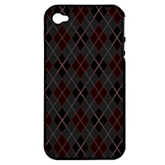 Plaid Pattern Apple Iphone 4/4s Hardshell Case (pc+silicone) by Valentinaart