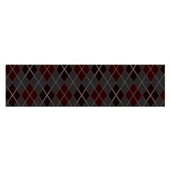 Plaid Pattern Satin Scarf (oblong) by Valentinaart
