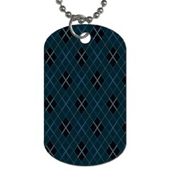 Plaid Pattern Dog Tag (one Side) by Valentinaart