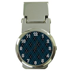 Plaid Pattern Money Clip Watches by Valentinaart