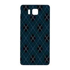 Plaid Pattern Samsung Galaxy Alpha Hardshell Back Case by Valentinaart