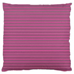 Lines Pattern Large Flano Cushion Case (two Sides) by Valentinaart