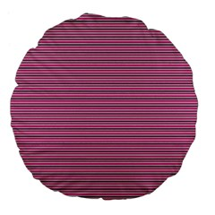 Lines Pattern Large 18  Premium Flano Round Cushions by Valentinaart