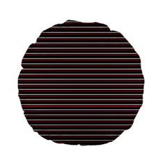 Lines Pattern Standard 15  Premium Flano Round Cushions by Valentinaart