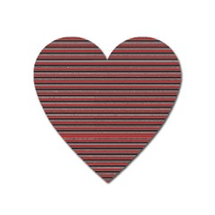 Lines Pattern Heart Magnet by Valentinaart