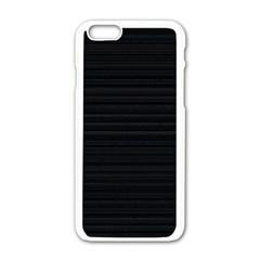 Lines Pattern Apple Iphone 6/6s White Enamel Case by Valentinaart