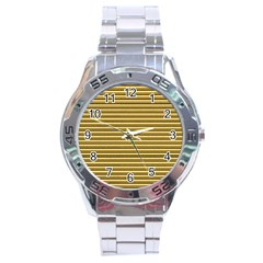 Lines Pattern Stainless Steel Analogue Watch by Valentinaart
