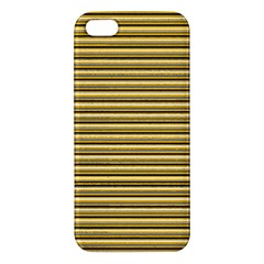 Lines Pattern Apple Iphone 5 Premium Hardshell Case by Valentinaart