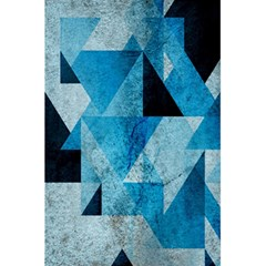 Plane And Solid Geometry Charming Plaid Triangle Blue Black 5 5  X 8 5  Notebooks by Mariart