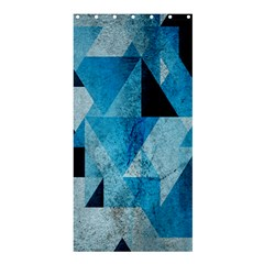 Plane And Solid Geometry Charming Plaid Triangle Blue Black Shower Curtain 36  X 72  (stall)  by Mariart