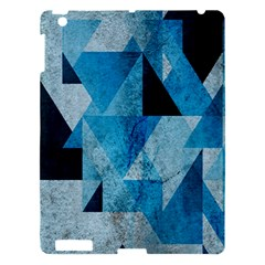 Plane And Solid Geometry Charming Plaid Triangle Blue Black Apple Ipad 3/4 Hardshell Case by Mariart