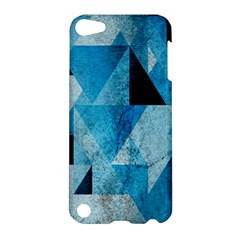 Plane And Solid Geometry Charming Plaid Triangle Blue Black Apple Ipod Touch 5 Hardshell Case by Mariart