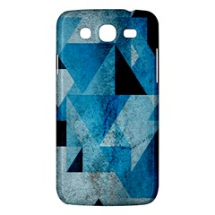Plane And Solid Geometry Charming Plaid Triangle Blue Black Samsung Galaxy Mega 5 8 I9152 Hardshell Case  by Mariart