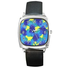 Mulberry Paper Gift Moon Star Square Metal Watch by Mariart