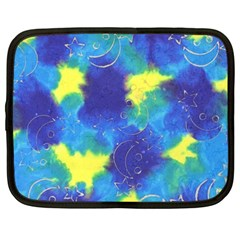 Mulberry Paper Gift Moon Star Netbook Case (xxl)  by Mariart